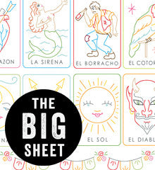 BIG SHEET Embroidery Patterns - LOTERIA