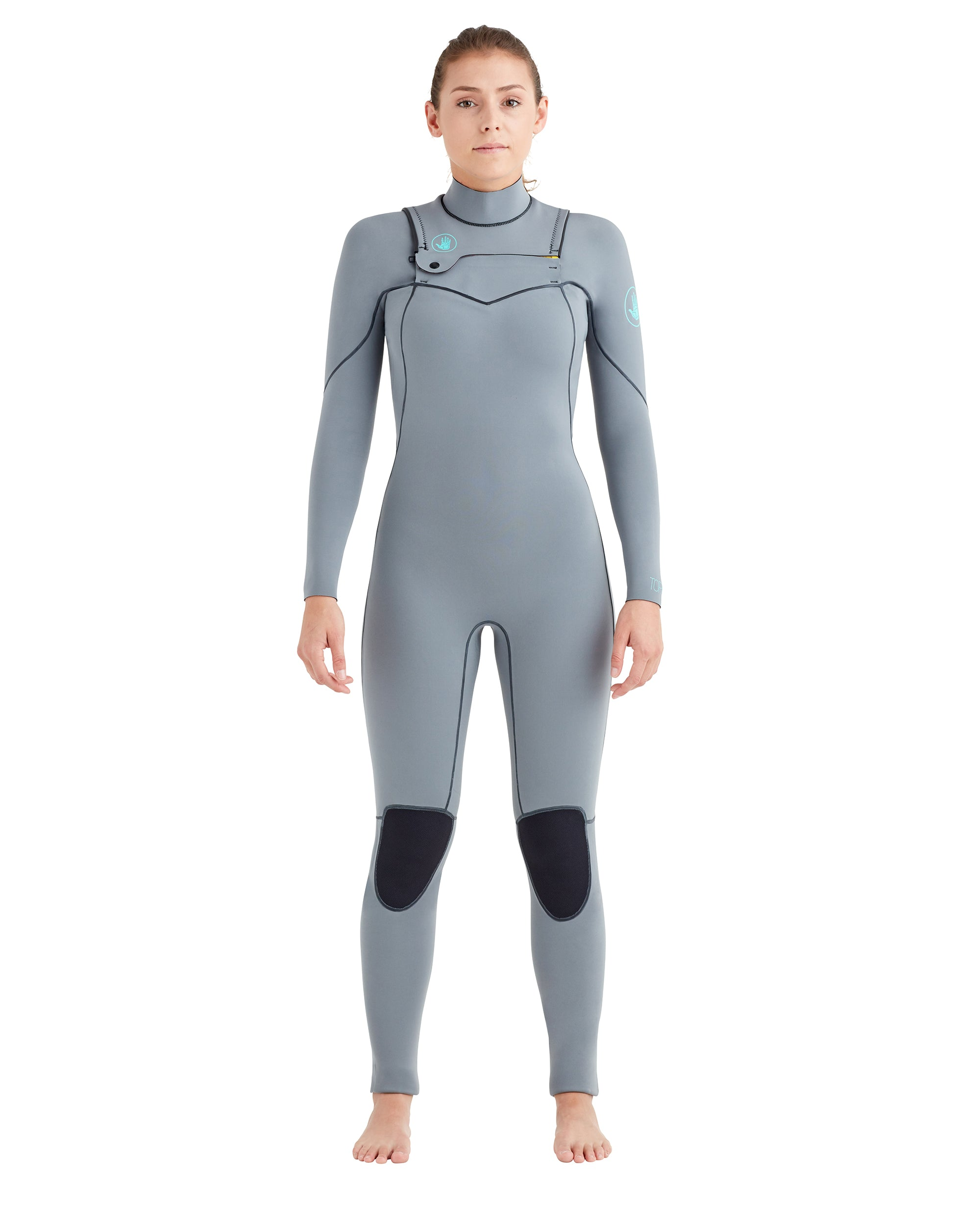 Women's Topaz 3/2mm Separated-Zip Fullsuit - Grey