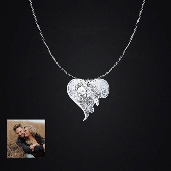 Personalized Love Photo - Sterling Silver Pendant