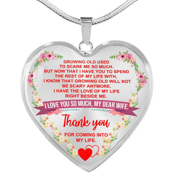 To My Wife - Heart Necklace - HD42