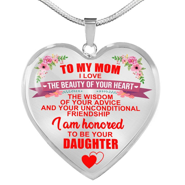 To My Mom - Heart Necklace - HD27