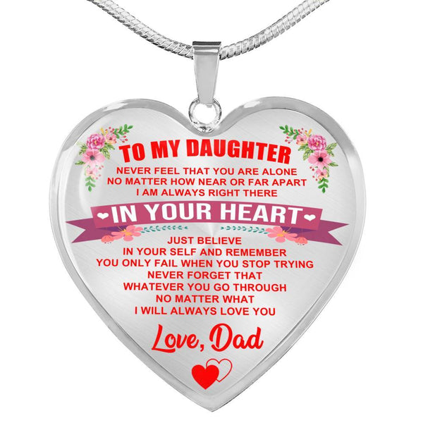 To My Daughter - Heart Necklace - HD25