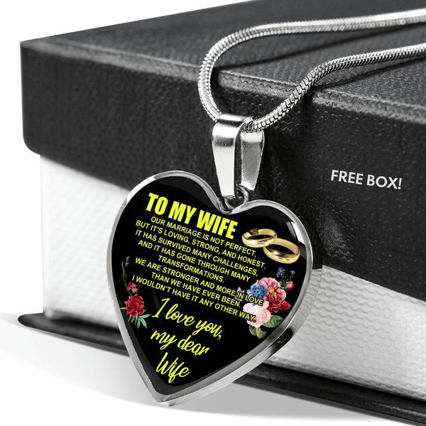 To My Wife - Heart Necklace - HD57