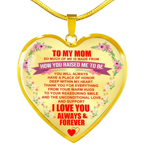 To My Mom - Heart Necklace - HD35