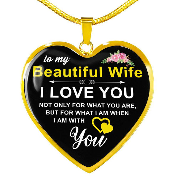 To My Wife - Heart Necklace - HD61