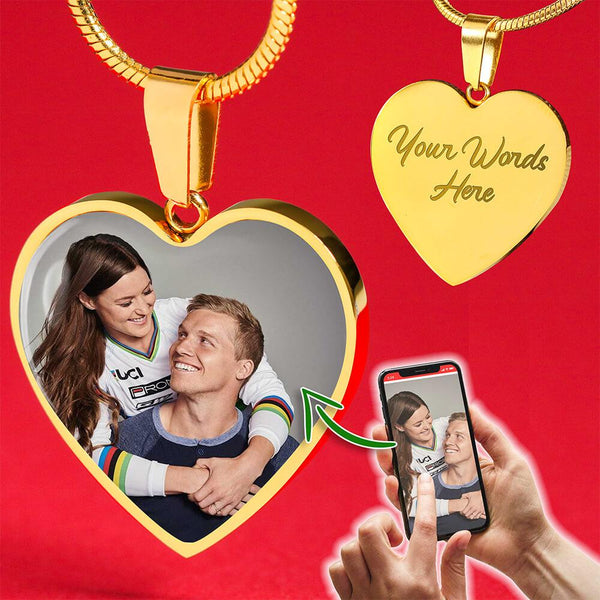 Personalized Photo 18k Gold - Love Necklace