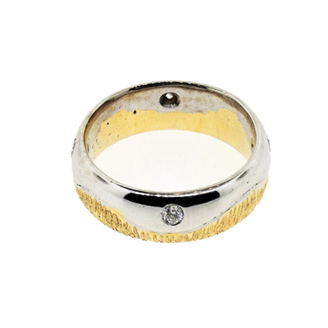Men 14KT Two Tone Wedding Band