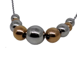S/Silver ball necklace