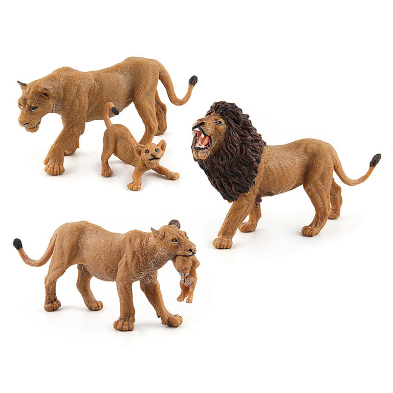 Lion Wildlife Toy Real Life Mini Wild Animal Toy Action Figure Collection Model Ornament Figurine Educational Toys For Kids Gift
