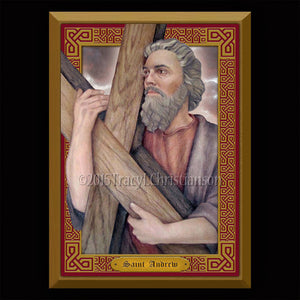 St. Andrew the Apostle Plaque & Holy Card Gift Set
