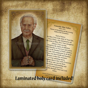 Venerable Matt Talbot Plaque & Holy Card Gift Set