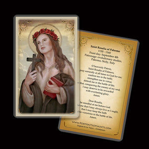 St. Rosalia of Palermo Holy Card