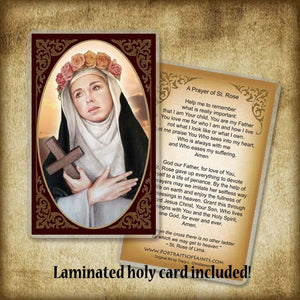 St. Rose of Lima Plaque & Holy Card Gift Set