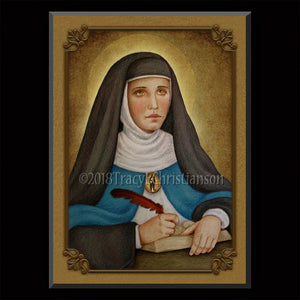 Venerable Mary of Agreda Plaque & Holy Card Gift Set