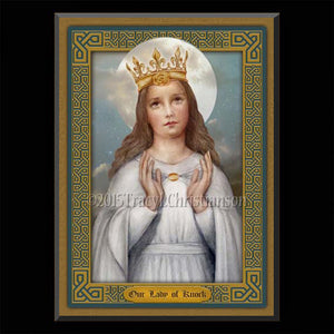 Our Lady of Knock Plaque & Holy Card Gift Set
