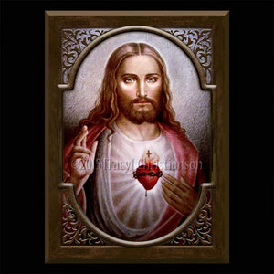Sacred Heart (C2) Plaque & Holy Card Gift Set