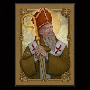 St. Ambrose Plaque & Holy Card Gift Set