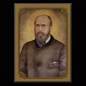St. Louis Martin Plaque & Holy Card Gift Set