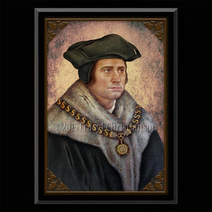 St. Thomas More Plaque & Holy Card Gift Set