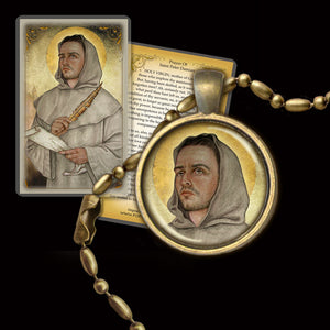 St. Peter Damian Pendant & Holy Card Gift Set