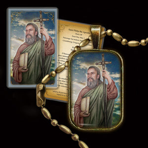 St. Philip the Apostle Pendant & Holy Card Gift Set