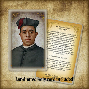 Fr. Augustus Tolton Pendant & Holy Card Gift Set