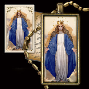 Our Lady of Grace Pendant & Holy Card Gift Set