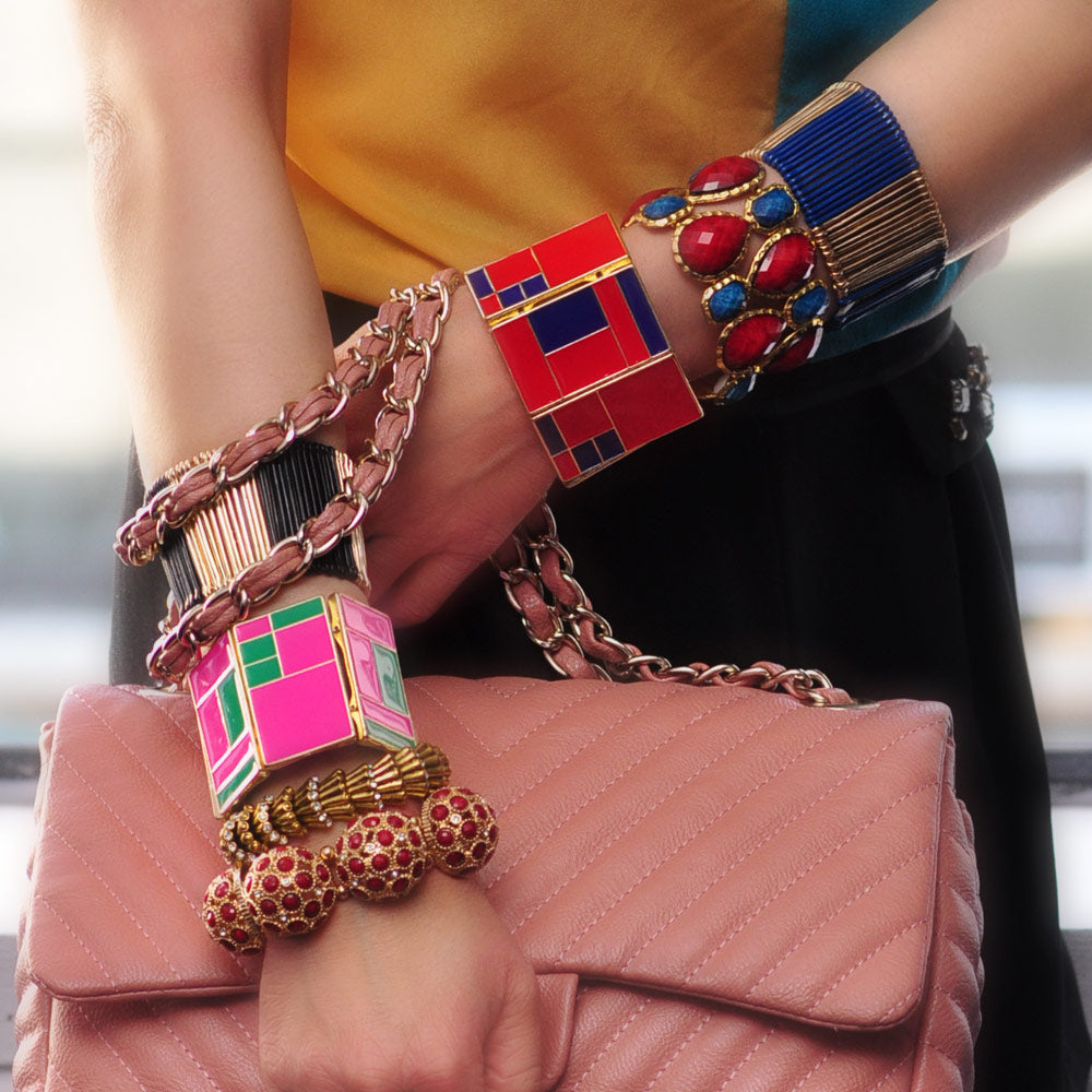 Evergreen/Fuschia Bracelet