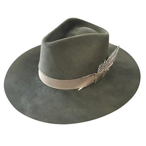 Verona Fedora in Olive Green by Lovely Bird