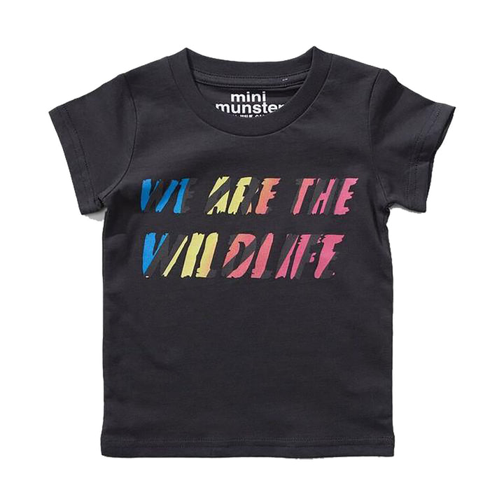 Mini Munster WE ARE THE WILDLIFE Baby T-Shirt (soft black)