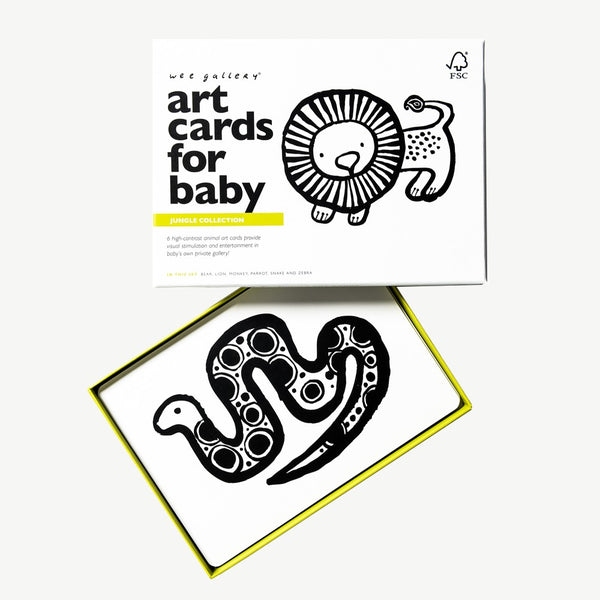 Wee Gallery Art Cards For Baby - Jungle