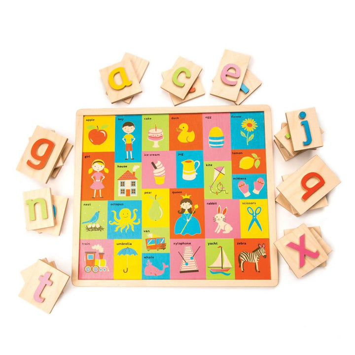 Wooden Alphabet and Picture Board Toy