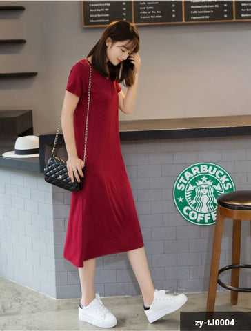 Image of Woman Long  Dress zy-tJ0004