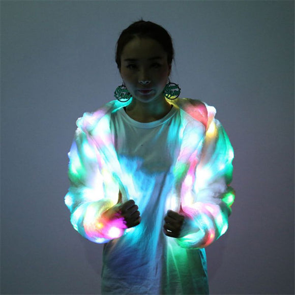 LED Celebrity Techno Dance Stage Stylish Hoodie