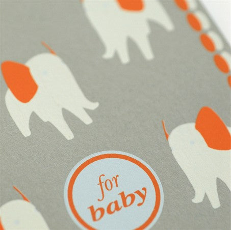 For Baby - Elephant Card