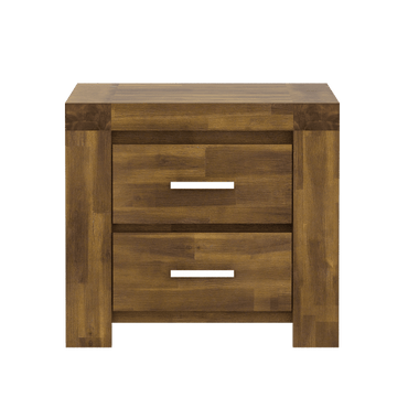 Parkfield Solid Acacia Bedside Table 2 Drawer