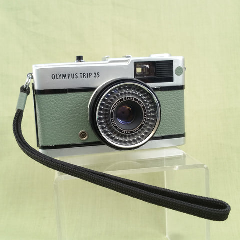 Olympus TRIP 35 customized  with Green leather