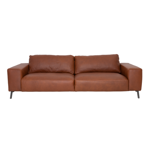 Taxton Sofa 3 Seater | Cognac, Leather