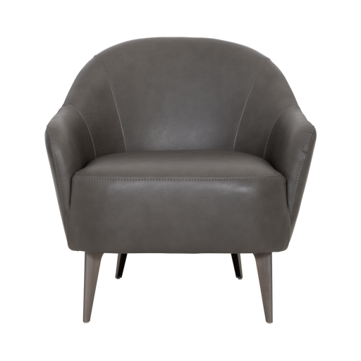 Lucy Chair | Grey, Leather