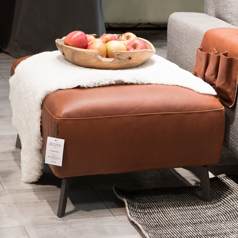 Taxton Sofa Footstool | Cognac, Leather