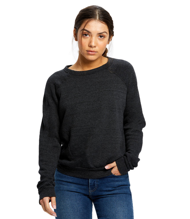 Women's Raglan Pullover Long Sleeve Crew Neck