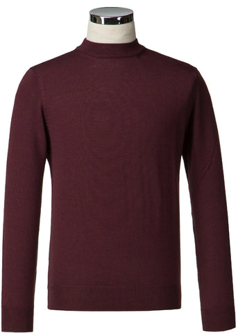 Gibson London Turtle Neck Jumper Burgundy