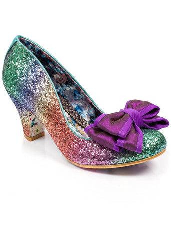 Irregular Choice Lady Ban Joe Glitter Pumps Multi