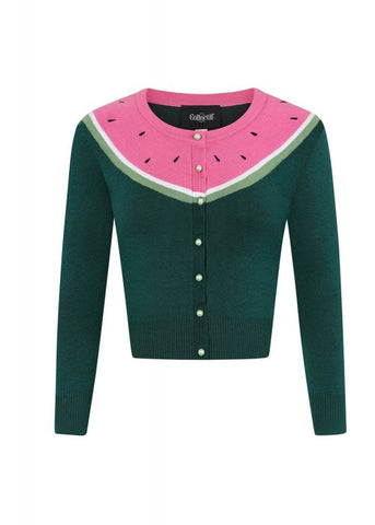 Collectif Jessie Watermelon 50's Cardigan Multi