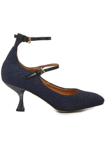 Banned Margarita 60's Pumps Nacht Blauw