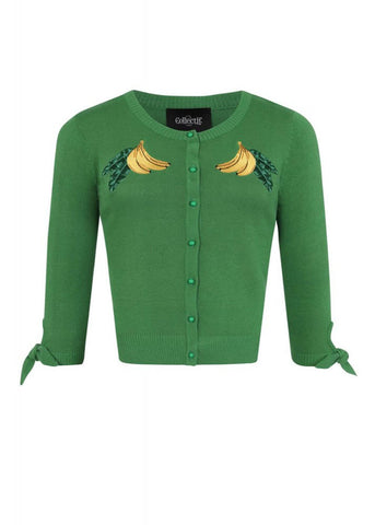 Collectif Sally Banana 50's Cardigan Groen