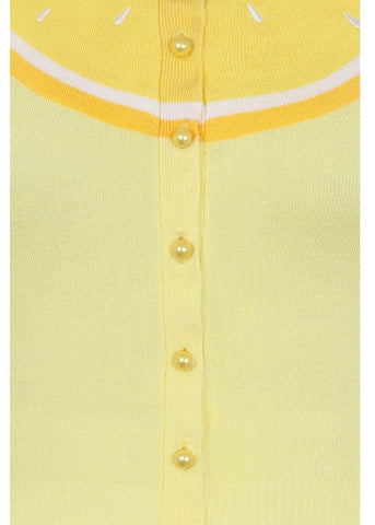 Collectif Jessie Lemon 50's Cardigan Geel