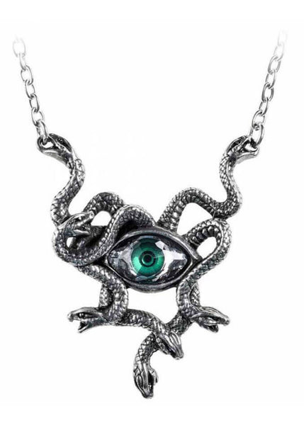 Alchemy Gorgon's Eye Pendant Ketting