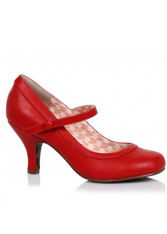 Bettie Page Shoes Bettie 50's Pumps Rood
