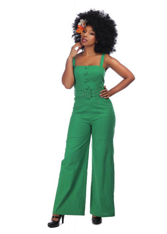 Collectif Olympia 60's Jumpsuit Groen